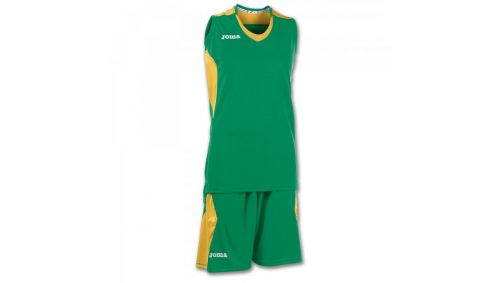 SET BASKET SPACE GREEN-GOLD SLEEVELESS W.