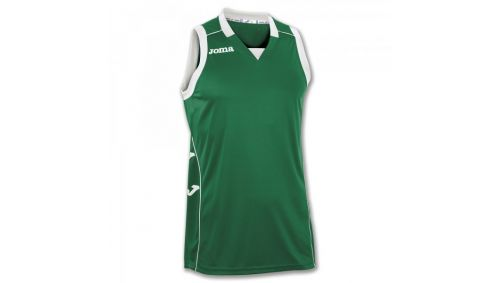 TRICOU CANCHA II GREEN-WHITE SLEEVELESS