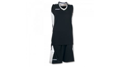 SET BASKET SPACE BLACK-WHITE SLEEVELESS W.