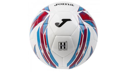 SOCCER BALL HALLEY HYBRID CORAL T4 -PACK 12-