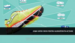 Ultimul model de pantofi de sport Joma Super Cross pentru alergători în acțiune